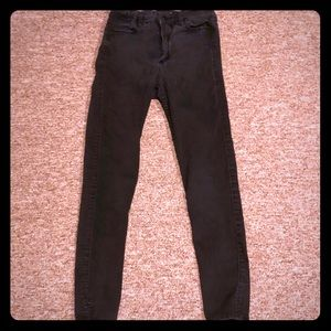 Abercrombie and Fitch high rise ankle jeans